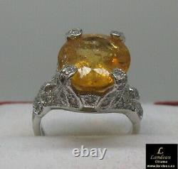 11.45 ct Rare Royal Imperial Topaz Sapphire Gemstone Ring (Mine Depleted)