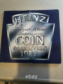 1983 Royal Mint HEINZ Uncirculated Coin Set Including ERROR 2p NEW PENCE Rare