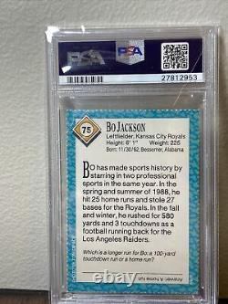 1989 Bo Jackson Kansas City Royals SI for Kids Card #75 RARE LOW POP PSA 10