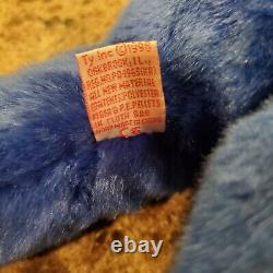 1998 TY Beanie Baby Buddy Original 1998 Rare Royal Blue Peanut The Elephant 17
