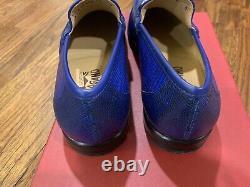 $2,000 Salvatore Ferragamo Mason Royal Blue Lizard Shoes 10EE Made in Italy RARE