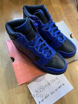 2000 Nike Dunk High Black Royal Uk9 Us10 New 100% Authentic Rare
