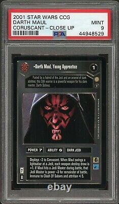 2001 Star Wars Ccg Darth Maul Coruscant Close Up Ai Psa Mint 9 Decipher Rare Ur