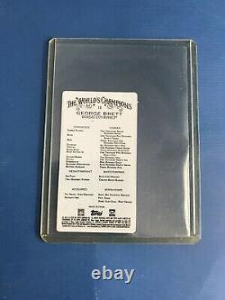 2020 Topps Allen & Ginter GEORGE BRETT Mini Metal SSP /3 ROYALS HOF Rare Insert