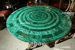 60 Random Rare Malachite Dining center Table Top Inlaid Restaurant Decor Gift