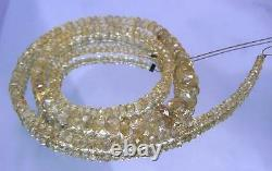 AAA RARE NATURAL FACETED CHAMPAGNE IMPERIAL TOPAZ BEADS 16.5 STRAND 68ctw