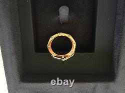 AUTHENTIC AP AUDEMARS PIGUET Royal Oak Ring 18K Yellow Gold & Diamonds Very Rare