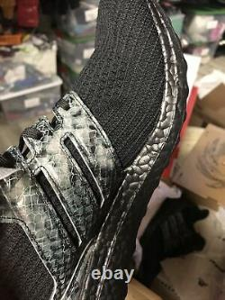 Adidas Ultra Boost DNA Animal Men's size 14 Sold Out Rare Black Snakeskin
