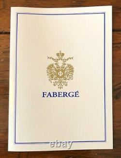 Authentic FABERGE Rosebud Imperial Red Egg Rare Find Brand New