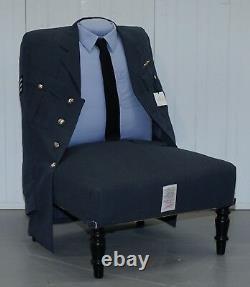 Brand New Rrp £3659 Treniq The Royal Air Force Uniform Armchair Rare Unique Find