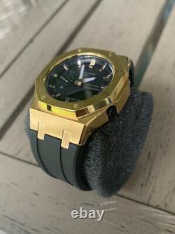 Casio G-Shock GMA-S2100-1A Steel Casioak Mini Rare Gold Watch AP Royal Oak Mod