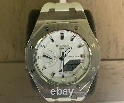 Casio G-Shock GMA-S2100 Steel Casioak Mini Rare White Watch AP Royal Oak Mod
