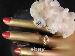Custom Ladies 1.10 CT. Rare Imperial Topaz & Diamond Ring 14k Yellow Gold