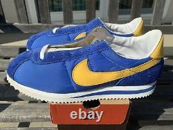 DS VTG 1996 NIKE CORTEZ II Classic ROYAL BLUE / YELLOW 11 CRENSHAW RARE Nipsey