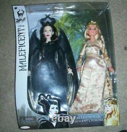 Disney Royal Coronation Maleficent & Aurora Sleeping Beauty Doll Gift Set RARE