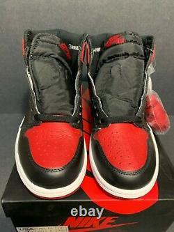 Ds New 2016 Nike Air Jordan 1 I Banned Mens Size 7 Bred Royal Toe Rare Og 6.5