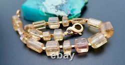 Gorgeous Rare Aaaaa Brazilian Gem Imperial Topaz Bracelet 7.4 Gem Grade