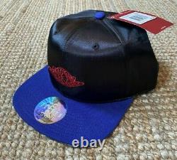 Jordan Satin Royal Wings Logo Strapback Hat 1985 1 og retro rare banned