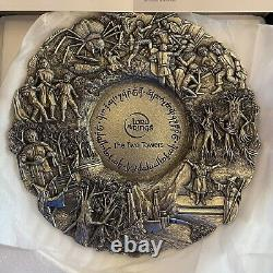 Lord Of The Rings Royal Selangor Pewter Plate The Two Towers RARE