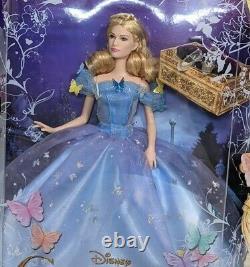 Mattel Disney Barbie Cinderella Royal Ball Doll 2014 Live Action NEW Rare Blue