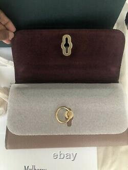 Mulberry Amberley Clutch On Wallet Dark Blush As Seen On The Royals Rare BNWT