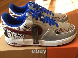 NEW AIR FORCE 1 PREMIUM (LEBRON) COLLECTION ROYALE 313985 061 Size 9.5 Rare