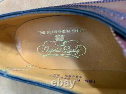 NEW NOS Rare Vintage Florsheim 93605 Horween Shell Cordovan Shoes Mens 10.5 A