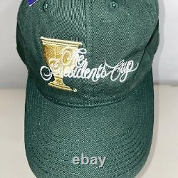 NWT The Presidents Cup Imperial Embroidered Green Adjustable Hat Cap ROLEX rare