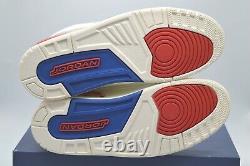 New Nike Air Jordan III 3 Retro International Sail/Sport Royal/Light Bone Rare