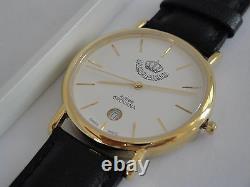 New RARE Grovana Rotree Gift King Abdullah II of Jordan Royal GOLD Watch Quartz