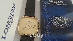 New RARE Longines L4.761 Gift King Abdullah II of Jordan Royal GOLD Watch Quartz