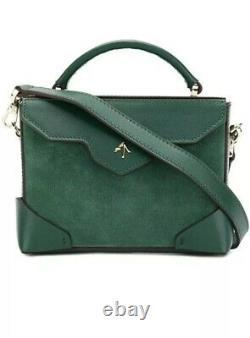 New Rare Manu Atelier Green Suede Bag ASO ROYAL