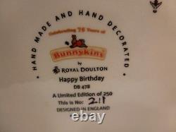 New Rare Royal Doulton Bunnykins 75 Anniversary Figurine Happy Birthday Only 250