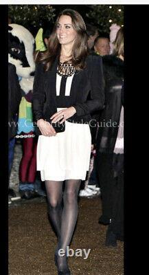 New Rare Temperley Titan Ivory Black Dress USA 6, Uk 10 Aso Royal