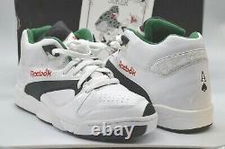 New Reebok Court Victory Pump Royal Flush Ace of Spades White/Black/Green RARE