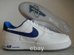 Nike Air Force 1 07 Penny White-varsity Royal Blue-black Sz 16 Rare 630932-100