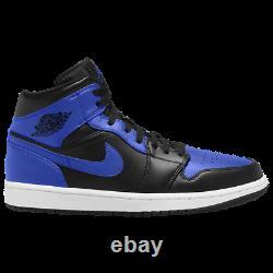 Nike Air Jordan 1 Mid Black Hyper Royal White 554724-077 NEW SOLD OUT RARE