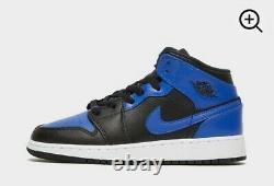 Nike Air Jordan 1 Mid Hyper Royal Blue/Black Size UK 3 New In Box RARE