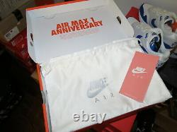Nike Air Max 1 Anniversary Game Royal OG 908375-101 2017 Release Size 10 RARE