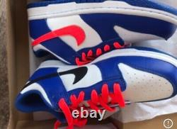 Nike Dunk Low bright crimson / game Royal CW1590- 104 GS sz 7y womens sz 8 rare