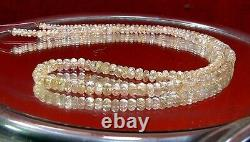 RARE NATURAL PURPLE SALMON PINK IMPERIAL TOPAZ FACETED BEADS STRAND 16.5 64ctw