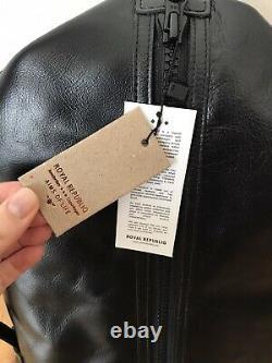 RARE New Royal Republiq Black Leather Backpack Travel Laptop BAG RRP$450