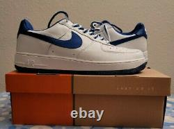 RARE Nike Air Force 1 Low DEADSTOCK White/Royal 306901-141 SZ 11