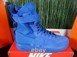 RARE Nike SF Air Force 1 High Royal Blue Mens Boots 864024-401 Size 11