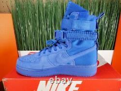 RARE Nike SF Air Force 1 High Royal Blue Mens Boots 864024-401 Size 9.5