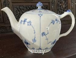 RARE Royal Copenhagen Blue Fluted Half Lace Teapot Stored Unused PERFECT