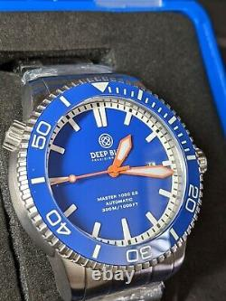 RARE Royal Deep Blue Master 1000 2.5 60-hour Power Reserve AUTOMATIC DIVE WATCH