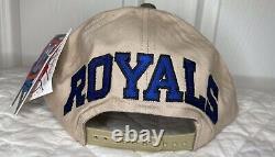 RARE VTG NEW American Needle Colorz Kansas City Royals Blockhead Snapback Hat