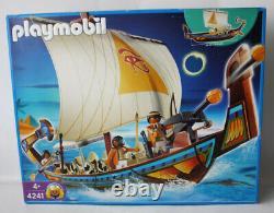 Rare 2007 Playmobil 4241 Egyptian Royal Ship Of Egypt Retired New Sealed Misb