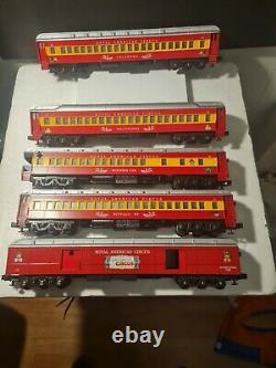 Rare'70 circus royal american circus O-Scale Madison 5 Car Train Set 10/10A+